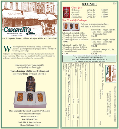 Cascarelli's Nut Order Form